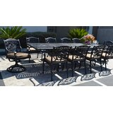 Mifflinville 11 Piece Dining Set with Cushions