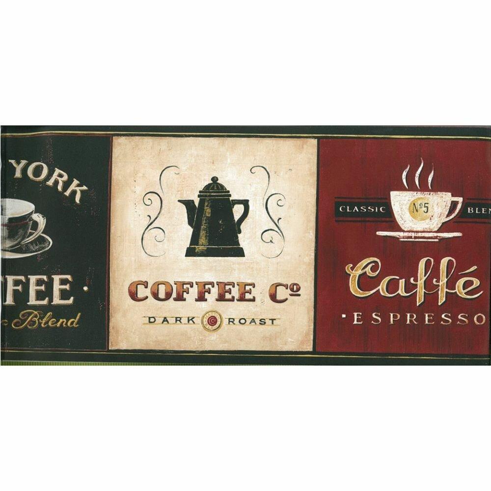Winston Porter Lovina Kitchen Coffee 15 L X 7 W Wallpaper Border Wayfair