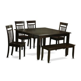 Pilning 6 Piece Dining Set with Rectangular Table Top August Grove