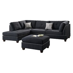 Milani Reversible Sectional with Ottoman