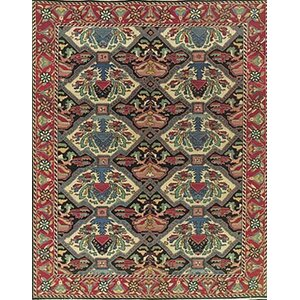 Pierson Hand-Woven Red/Green Area Rug