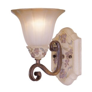 Tapestry 1-Light Bath Sconce by Classic Lighting