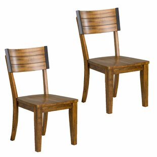 Leandra Square-Back Dining Chair (Set of 2) Williston Forge