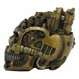 17 Storeys Mad Max Steampunk Cyborg Robotic Skull Decorative Box Figurine Skull Bowl Container Jewellery Trinket Storage Stash Box With Victorian Scifi Pipes And Gears Nautilus Submarine Prototype