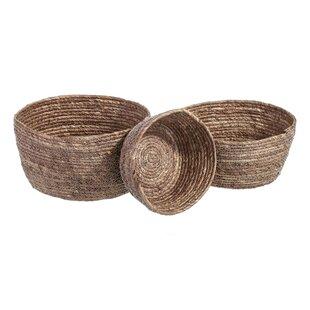 Review Rattan 3 Piece Basket Set