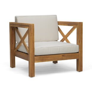 Damico Outdoor Club Patio Chair with Cushions
