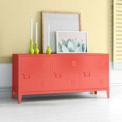 """Hashtag Home Sherrill 47.2"""" Wide Serverr  Color: Red"""