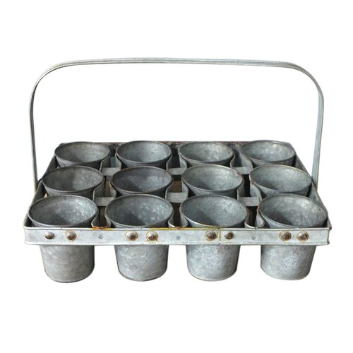 Lavender 12 Piece Metal Plant Pot Set Brambly Cottage