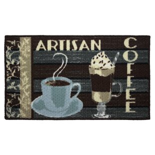 Textured Loop Artisan Coffee Kitchen Area Rug by Structures