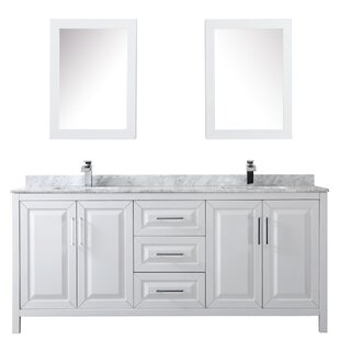 Daria 80 Double Bathroom Vanity Set with Medicine Cabinet By Wyndham Collection