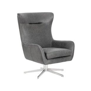 Sunpan Modern Club Swivel Lounge Chair