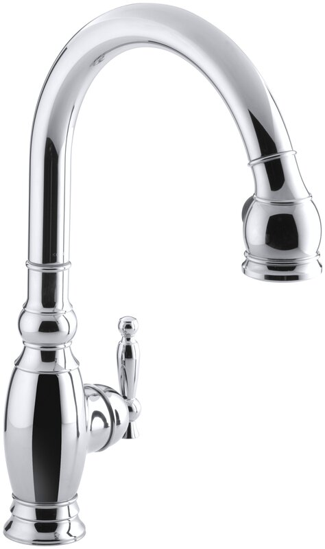 Vinnata Pull Down Single Handle Kitchen Faucet With MasterClean™