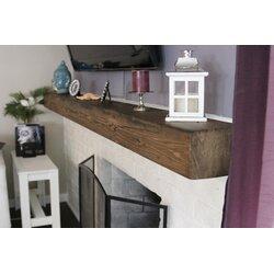 Midwood Designs Rustic Fireplace Shelf Mantel & Reviews   Wayfair