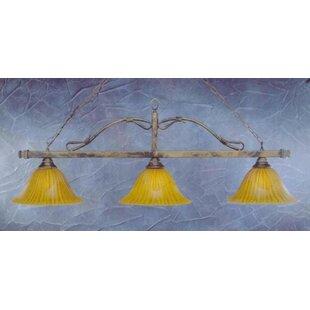 Red Barrel Studio Naylor 3-Light Wrought Iron Rope Kitchen Island Pendant