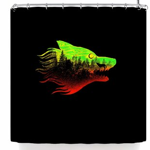 BarmalisiRTB The Wolf Colors Single Shower Curtain