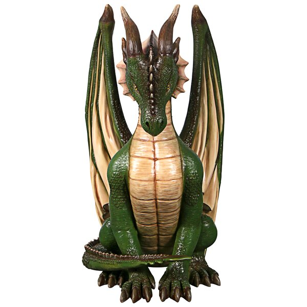 Green Dragon Garden Ornament Plant Pot Sculpture Statue Figurine Gift