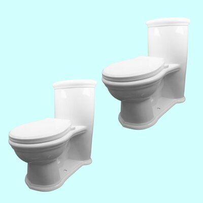 08 GPF Water Efficient Elongated One Piece Toilet Seat Included The Renovators Supply Inc