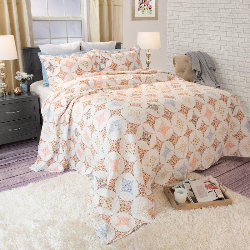 Lavish Home Charlotte Quilt Set Reviews Wayfair Stunning Charlotte Ruffled Throw Blanket