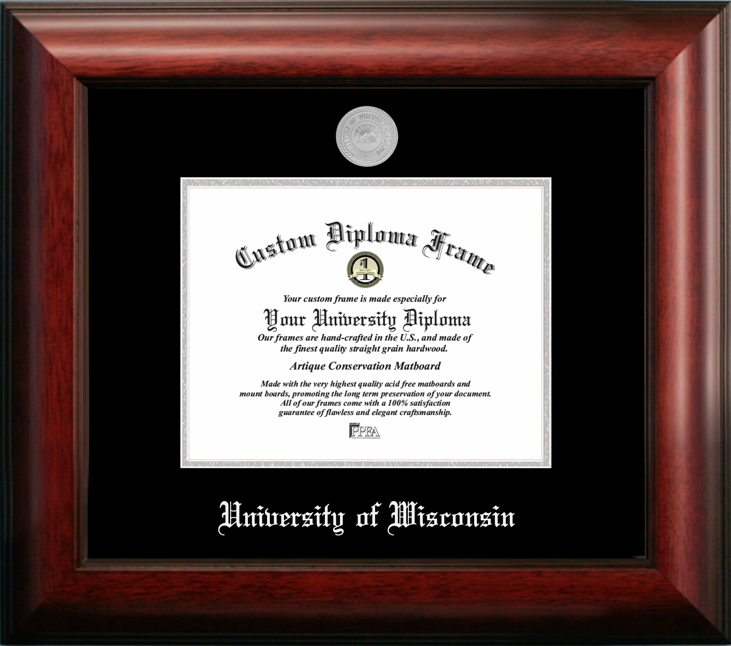 Campus Images University Of Wisconsin Madison Embossed Diploma Picture Frame Wayfair