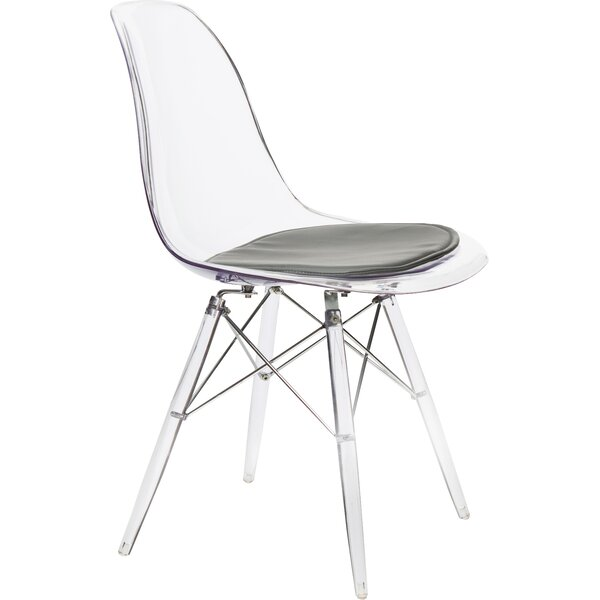 George Oliver Wolsingham Upholstered Side Chair In Clear Reviews Wayfair