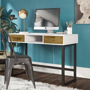 Demps Modern 2 Drawer Writing Desk by Wrought Studio Cheap