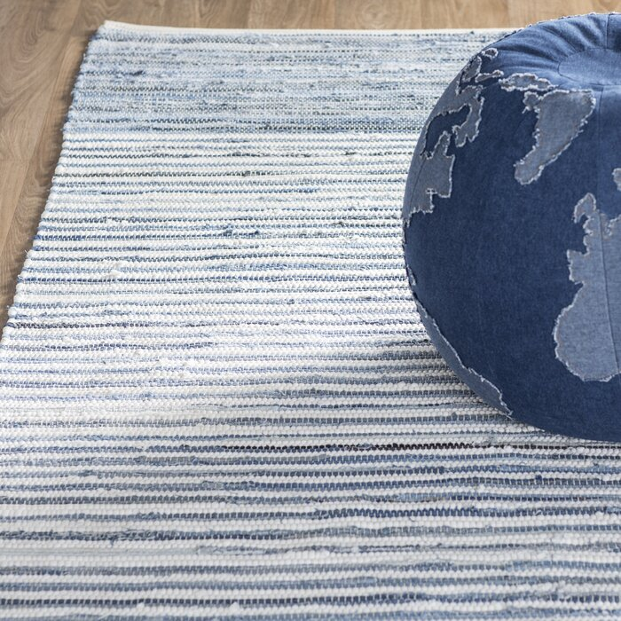 Phillips Cotton Blue Navy Area Rug