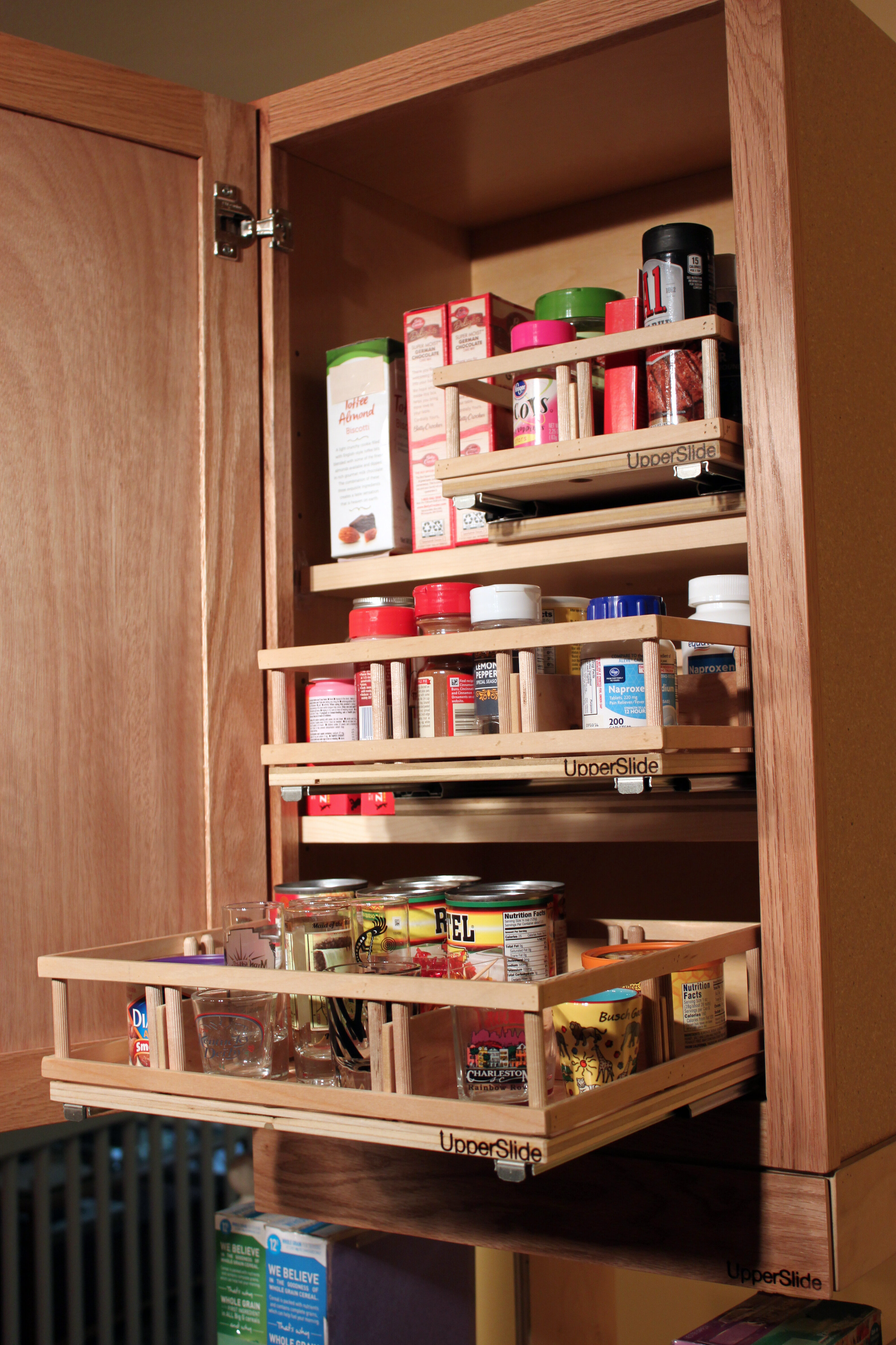 Rebrilliant Upper Cabinet Spice Rack Caddy Medium Pull Out ...