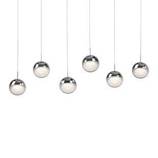 Thane Sphere 6-Light Cluster Pendant by Orren Ellis