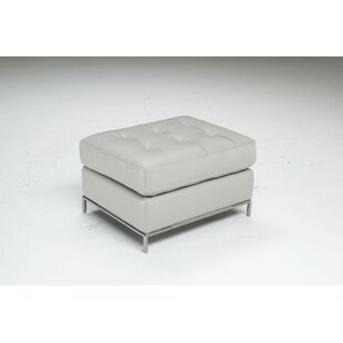 Natuzzi Editions Silvio Leather Ottoman