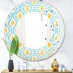 Pattern Abstract Design I Wave Modern  Contemporary Frameless Wall Mirror by East Urban Home