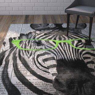 Bakker Zebra in Glasses Area Rug ByWrought Studio