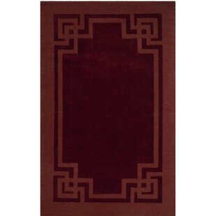 Deco Tufted-Hand-Loomed Red/Brown Area Rug by Martha Stewart Rugs