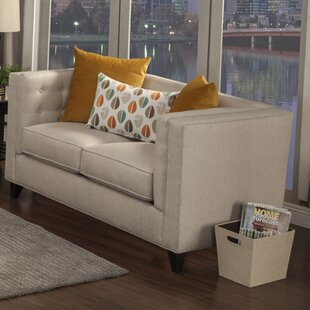 Pesce Contemporary Flared Arm Loveseat