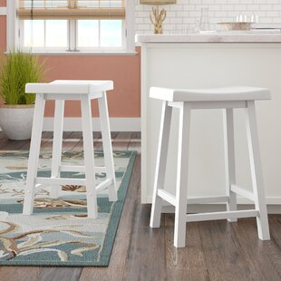 Top Greenwald 24 Bar Stool (Set of 2) by Beachcrest Home Reviews (2019) & Buyer's Guide