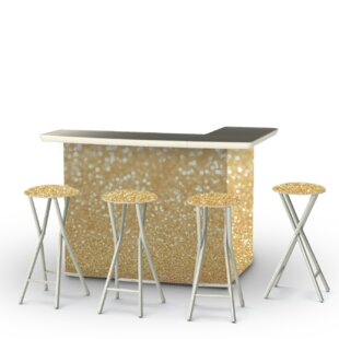 Best of Times Glitter Me Gold 7 Piece Bar Set