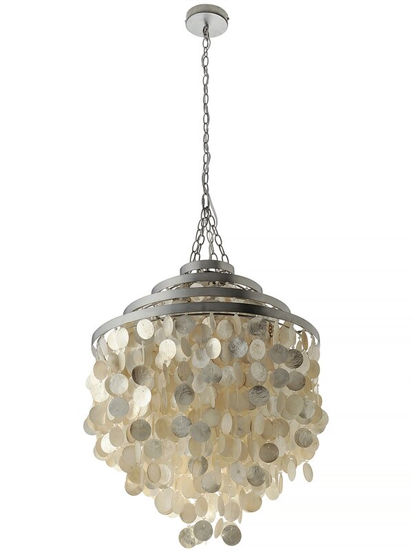 Capiz Seashell 2 Light Crystal Chandelier