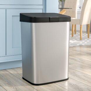 Rebrilliant Steel 15.9 Gallon Motion Sensor Trash Can