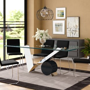Poitras Geometric Style Base Dining Table by Brayden Studio