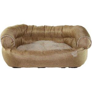 Luxurious Faux Linen Dog Sofa