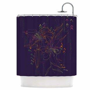 Hibiscus Single Shower Curtain