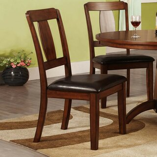 Antonio Upholstered Side Chair in Antique Dark Oak (Set of 2) by Alcott Hill SKU:EE288305 Check Price