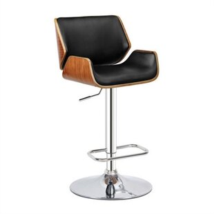 Louis Adjustable Height Swivel Bar Stool (Set of 2) George Oliver