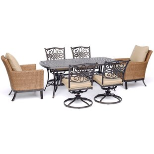 Carleton 7 Piece Dining Set with Cushions