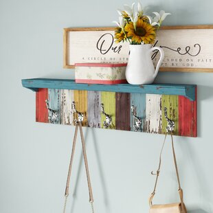 Small Shelf With Hooks | Wayfair
