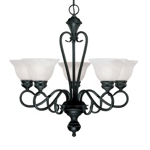 Fleur De Lis Living Birchview 5-Light Shaded Chandelier