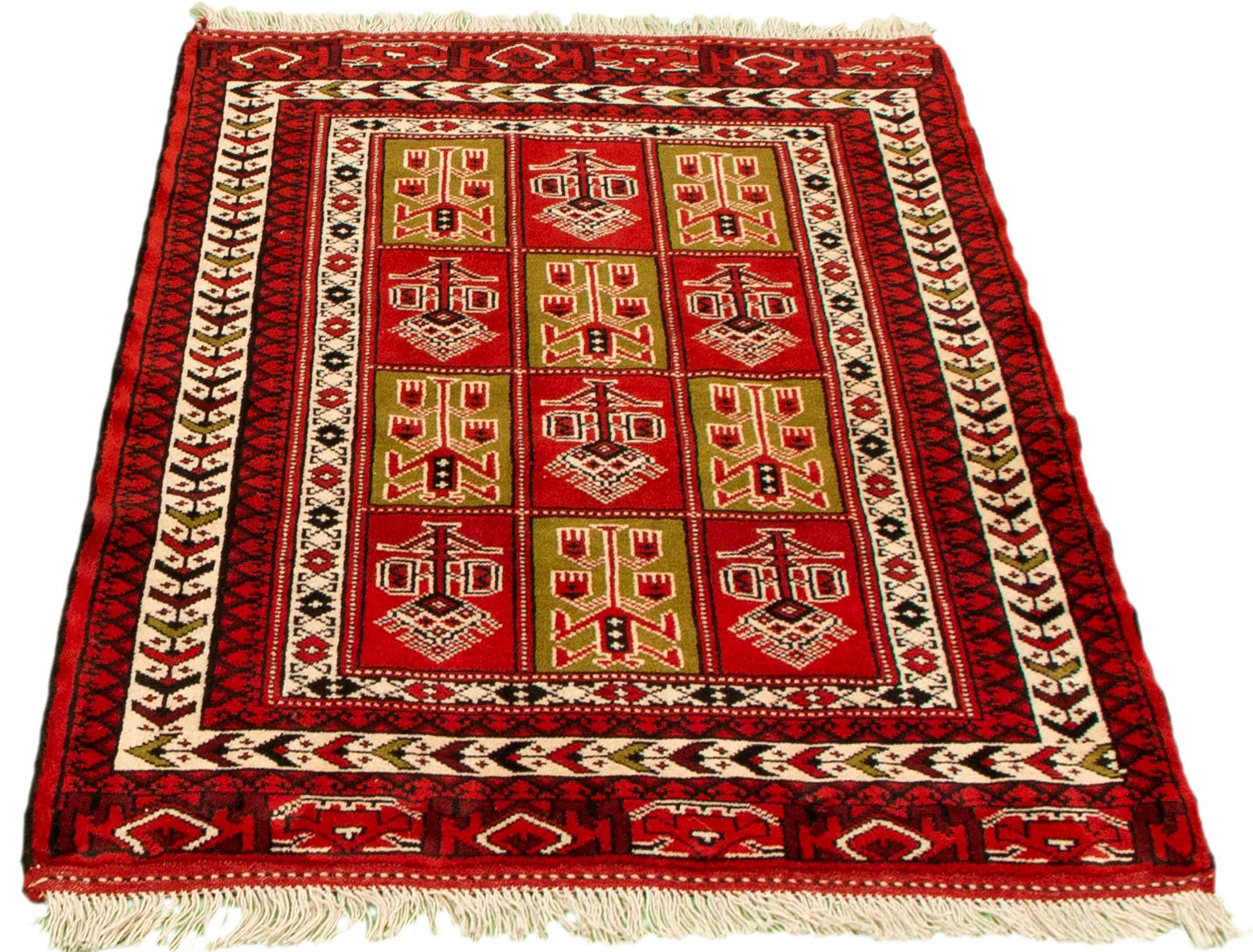 Bloomsbury Market Afsah Hand Knotted Wool Red Beige Rug Wayfair