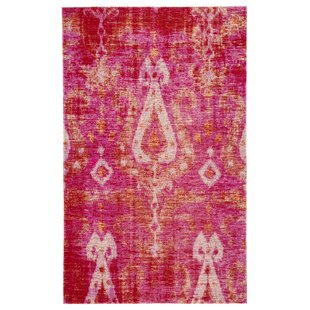 Jambi Ikat Pink/Beige Indoor/Outdoor Area Rug