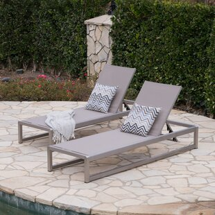 Orren Ellis Roberson Outdoor Mesh Chaise Lounge (Set of 2)