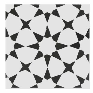 black and white floor tile. Medina 8  X Handmade Cement Tile In Black White Floor You Ll Love Wayfair