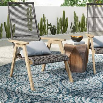 Magnificent Mistana Largent Teak Patio Chair With Cushions Reviews Home Interior And Landscaping Ymoonbapapsignezvosmurscom